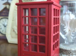 英伦经典 木艺 电话亭 装饰品/储蓄罐 掌柜推荐 2色可选,创意礼品,