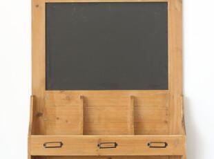 创意挂式留言板 多功能实木公告板 咖啡厅酒吧装饰黑板 日单zakka,创意礼品,