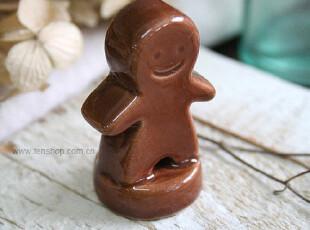 FEN ZAKKA 杂货  陶瓷姜饼人形印章,创意礼品,