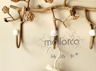 【马洛卡】出口法国繁花似锦5头铁艺挂钩,创意礼品,