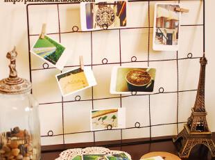 ZAKKA杂货 四月新品 铁艺绕线相片架 拍摄道具 拍照背景 背景墙,创意礼品,