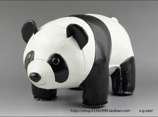 台湾Zuny皮革文具Panda大号熊猫书挡/玩具 BLLC614,创意礼品,