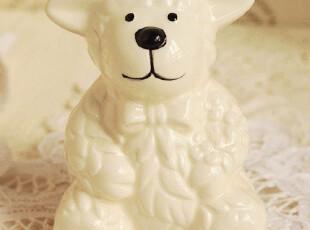 出口欧美 可爱卡通小羊陶瓷存储罐 存钱罐 家居摆件 外贸手绘陶瓷,创意礼品,