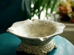 芮诗凯诗 珀斯欧式陶瓷烟灰缸 做旧工艺 大号 创意烟灰缸,创意礼品,