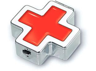 德国 TROIKA 红十字随身四格药盒 PIL02-CROSS,创意礼品,