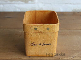 FEN ZAKKA 杂货 日单 三合板笔筒收纳(方形),创意礼品,