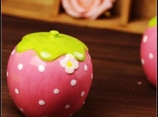草莓心情。日单 萌。草莓存钱罐/首饰盒子 储物罐储蓄罐 拍摄道具,创意礼品,