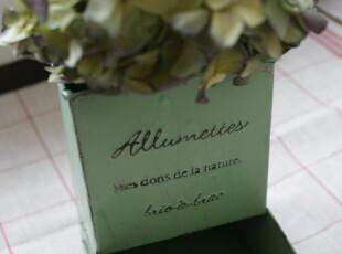 ° 雜貨生活 日本直送ZAKKA绿色凸字铁皮花器,创意礼品,