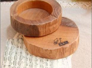 Z+ZAKKA 日式杂货 生态良品 原木 实木 纯天然 烟灰缸,创意礼品,