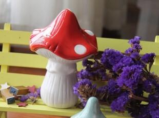 【PURE TIME】出口ZAKKA欧式陶瓷摆件礼物 蘑菇公园 孤品,创意礼品,
