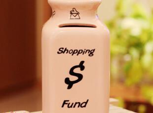 H025 外贸出口存钱罐/收纳罐 zakka粉色陶瓷木塞存钱罐/储物罐,创意礼品,