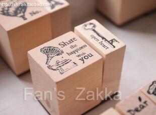 「Fan's Zakka」复古木质印章*留声机,创意礼品,