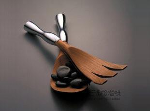 美国Nambe Butterfly 沙拉勺/沙拉搅拌套装 6120,创意礼品,