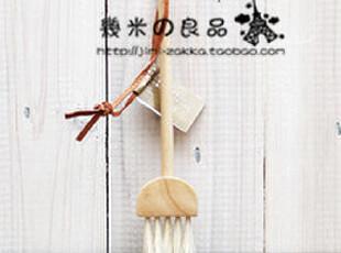 ZAKKA日单 原木清洁刷 居家杂货 天然鬃毛 麂皮挂扣 木制键盘刷,创意礼品,