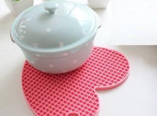 【韩国进口代购】A104 厨房实用粉色爱心锅垫 两色可选,创意礼品,