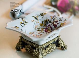 七折包邮 萧伯纳烟灰缸 欧式复古 树脂陶瓷饰品裂纹摆设烟灰缸,创意礼品,