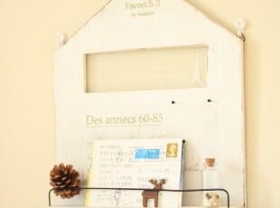 未果 zakka life 房子 铁塔 玻璃 丝印 水洗白 壁挂 展示 收纳,创意礼品,