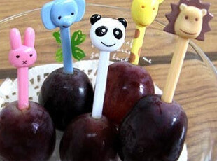 ★公主梦想★韩国家居*可爱动物园*造型水果签套装 M1621,勺筷,