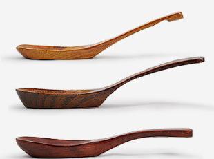 防瓷 木制 小汤勺 勺子 3款,勺筷,