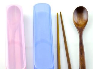 6套包邮 环保旅游推拉盒红木筷子木勺子 便携式餐具三件套装,勺筷,