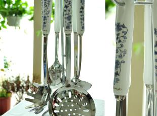 景商陶瓷+不锈钢-厨房必备/全套铲勺很节约空间-7件入荷,勺筷,