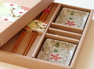 出口日本.寿司用具套装筷碟筷架组合12件套.礼物.礼盒.包邮Y097,勺筷,