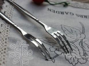 【外贸西餐具】航空定制余通用不锈钢英伦甜点叉 蛋糕叉 水果叉,勺筷,