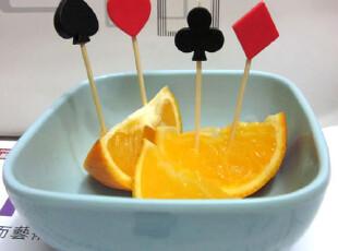 正品安雅 扑克水果叉水果签蛋糕叉高档品位生活创意家居0.03,勺筷,