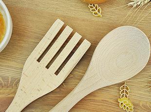 OvenLove 品牌 木质 沙拉勺/沙拉叉/沙拉铲/搅拌勺/饭勺/汤勺,勺筷,