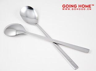 出口韩国 不锈钢 长柄韩版勺21cm 勺子 餐勺,勺筷,