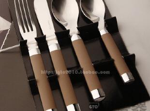 礼盒装不锈钢刀叉勺4件套/西餐餐具/防烫手柄 刀叉礼盒装,勺筷,