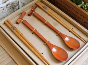 千度悠品 zakka 日式杂货 和风筷子+勺子礼盒套装 结婚回礼,勺筷,