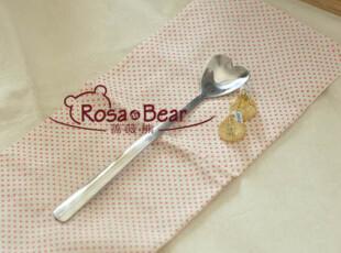哈根达斯桃心长柄冰品勺 不锈钢餐具 外贸,勺筷,