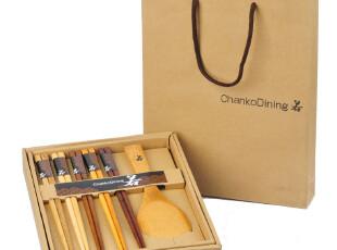 原装礼盒赠礼佳品 日式盒装5木筷子&荷木饭勺套装4-0264 0.26kg,勺筷,