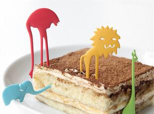 开了原创设计 我家的动物园 动物系列餐具 叉子勺子水果叉糕点叉,勺筷,