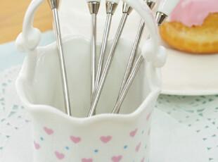 『韩国进口家居』n1356  甜蜜之心*公主家必备*水果叉套件组,勺筷,