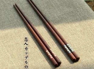 zakka日式和风筷子 樱花男女情侣筷礼盒餐具套装 结婚新婚礼 木筷,勺筷,