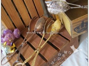 ZAKKA欧式复古精美创意金属雕花面包夹甜品夹杂物夹烘焙必备,勺筷,