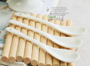 高白陶瓷 调味勺子 咖啡勺子  勺子  骨瓷勺子,勺筷,