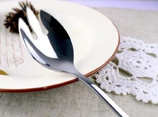 拉面勺子 沙拉必备不锈钢勺叉 蛋糕点勺叉 饭勺 调羹 冰激凌勺叉,勺筷,