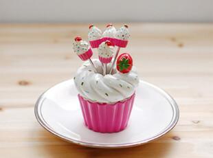 ★公主梦想★韩国家居*草莓蛋糕*甜美风格*公主家水果叉套装W2123,勺筷,