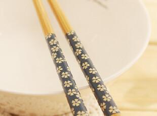 日式樱花竹筷 食具 筷子 礼盒装 5双 zakka,勺筷,