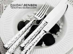 美国Lauren Ralph Lauren 编织手柄西餐刀叉勺特价推荐-超值,勺筷,