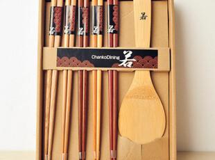 日本原装 正品精制原木餐具礼盒装 筷子饭勺 无印良品风 日式和风,勺筷,