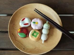 Fan's zakka杂货 日单日式和果子陶瓷筷子架 筷拖 著架 盒装,勺筷,