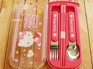 【韩国家居】正品Hello kitty 便携式儿童餐具 筷子叉子勺子 现货,勺筷,