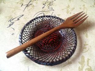 日式和风实木叉子 蛋糕水果叉子 面条叉 西餐木叉,勺筷,