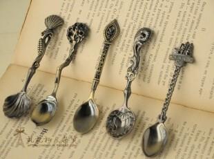 【特】zakka杂货 复古 做旧 仿铜 咖啡勺 小勺子 食品拍照道具,勺筷,