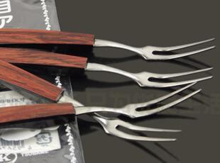 日本进口不锈钢水果叉 厨房用具品 便携餐具 DIY可爱小叉子 4个装,勺筷,