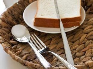 荷兰著名品牌SOLA敲打手柄主餐刀叉勺3件套 西餐餐具 出口,勺筷,